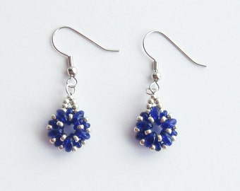 Earrings - Cobalt Blue