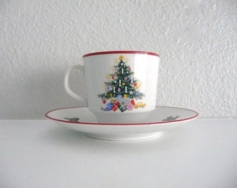 Noel Tea Cup and Saucer by Schumann Bavaria