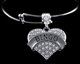 Bingo Bracelet  BINGO charm Bracelet  Bingo Jewelry  Bingo Player gift