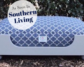 Wood Dog Bed || As Seen in Southern Living Magazine || Medium Large || Custom Pillow ||  Any Color || Wooden Beautiful Dog Bed || Trendy
