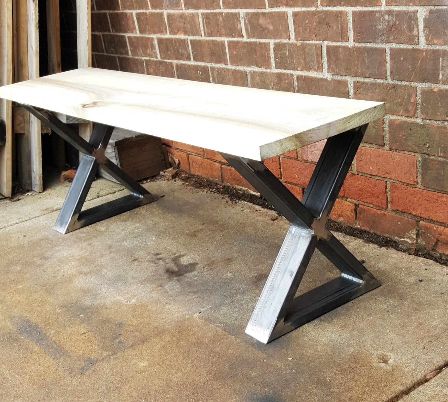 Set of 2 Modern Bench X Legs Model BX02L Heavy Duty industrial