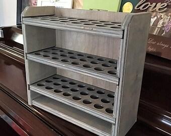 Essential oil storage shelf (holds 72 bottles)Classic Gray