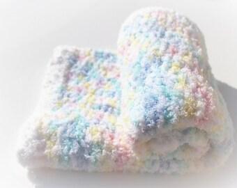 Pastels Baby Blanket, Crochet Baby Blanket, Crochet Blanket, Baby Blanket, Handmade Blanket, Baby Shower Gift, Gender Neutral, Baby Afghan