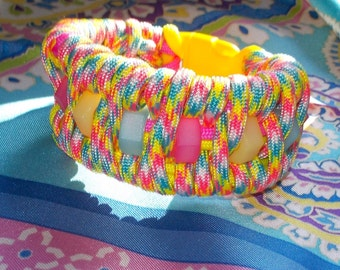 Paracord braclet with nylon hex nuts from ParacordPlayground
