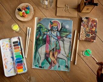 Krishna Watercolor