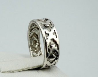 Vintage Marie Smith Navajo Tribe Silversmith Solid Sterling Silver Band/Ring  #SMITH-SR1