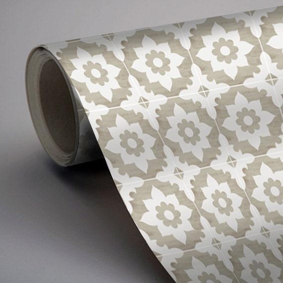 vinyl floor tile sticker floor decals carreaux ciment encaustic campagne tile sticker pack. Black Bedroom Furniture Sets. Home Design Ideas