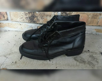90s black ankle boots women's size 7