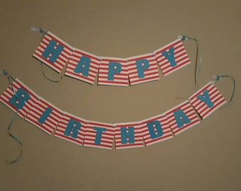 Carnival theme birthday banner