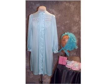 1950's/60's Housewife Costume / Grandma Costume / Vintage Robe / Pajama Costume-Small-Medium (A104)