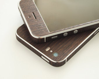 iPhone 4, 4s, 5, 5s, SE Fine Wood high quality skin wrap, 3M