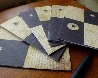 Vintage Grunge style,collaged, hand-made blank greetings cards-notecards