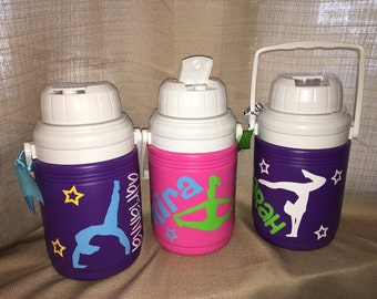 Personalized Sports Gymnast Water Jug Cooler- 1.3 Quart
