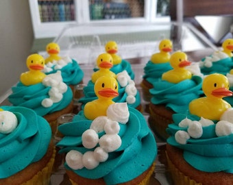 Rubber duckie cupcakes! **Local Pick-up or Delivery ONLY**