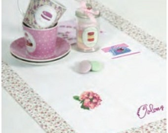 DMC Ready to Stitch Table Runner made in checked fabric to stitch 16ct - personalise with cross stitch