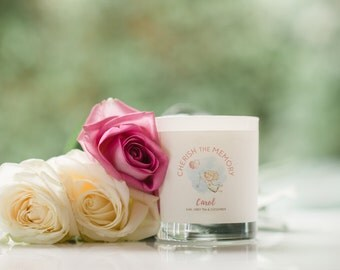 Pretty Mothers Day Candle Gift, White Lavender  Luxury Soy Scented Candle in a glass container, Birthday Gift idea