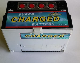 Micro Machines SUPER CHARGED BATTERY Secret Auto Action Playset 1989 Galoob