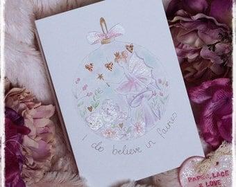 I do believe in Fairies - Greetings Card