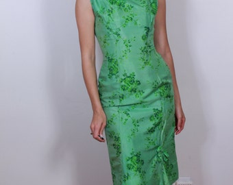 1950s Dream Green Wiggle Dress
