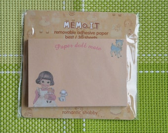 Vintage Girl Sticky Notes - Paper Doll Mate Memo Pads