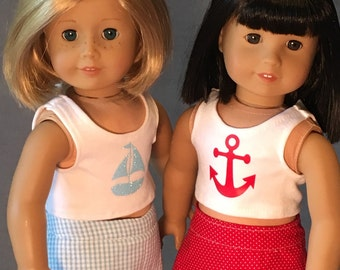 Summer Short Sets for 18 inch dolls like American Girl