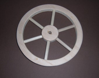 """Handcrafted wooden 8"""" wheel with (6) spockes Part No 1401-C"""