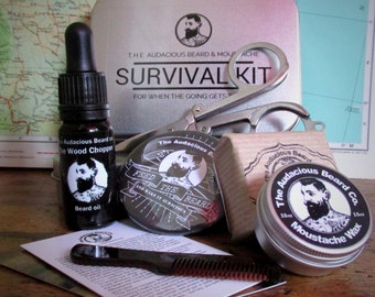 The Audacious Beard and Moustache Survival kit  - The Audacious Beard Co