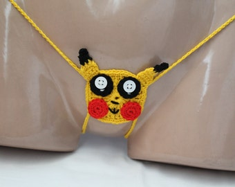 Sexy Thong, erotic lingerie, Crochet Sexy woman Thong, g-string crochet, Crochet Bikini, g-string erotic, sexy thong, PokemoN sexy g-string