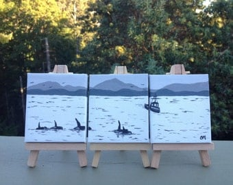 Georgia Straight (Miniature original paintings on easels)