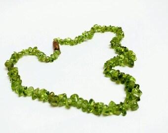 Vintage peridot beads necklace bracelet