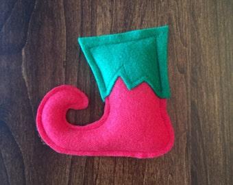 Christmas Elf Shoe Catnip Cat Toy - Organic Cat Nip Holiday Kitty Cat Gift