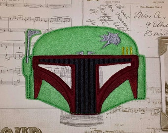 Star wars Boba Fett inspired mask ITH Project In the Hoop Embroidery Design Costume Cosplay, Fancy dress, Masquerade, Photo booth, Prop.