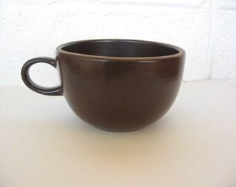 Heath cup #105,dark brown ceramic cup, Heath coffee/tea cup, Edith Heath, Sausalito pottery, MCM cup, Heath Ceramics