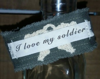 Military Bracelet Army Bracelet I Love My Soldier Inspiration Bracelet Cuff Army Wife Gift Army Girlfriend Bracelet Army Gifts Military Gift