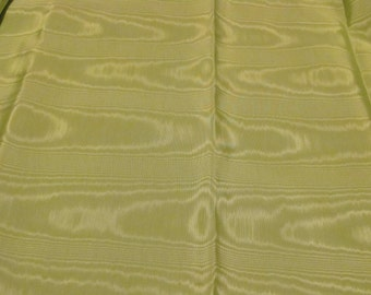 Vintage Light Green Moire Fabric by the Yard