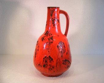 Red Graflich Ortenburg Fat Lava vase