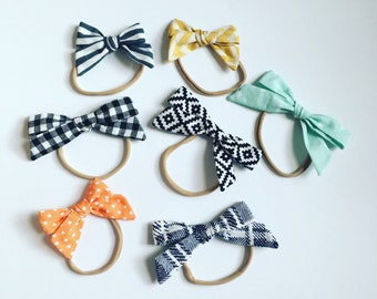Adorable baby nylon bow headband