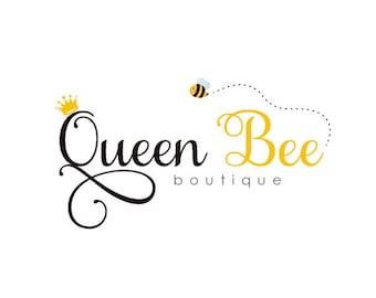 Custom Logo Design Premade Logo for Photographers - photography logo business logo crown logo graphic design bee logo boutique logo