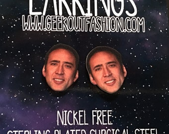 Nic Cage is Bae Earrings