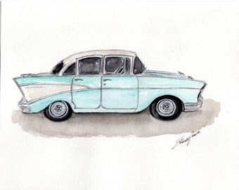Custom Watercolor illustration - Decor