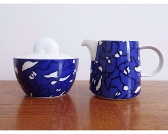 Thomas Germany 'York Velvet' Cobalt Blue Sugar and Creamer Set