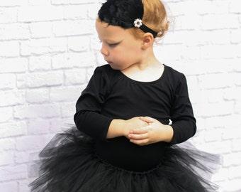 Black Swan Costume - Ballerina Costume Baby Girl - Baby Costume - Black Tutu Set - Black Ballerina Costume - Dress Up for Toddlers