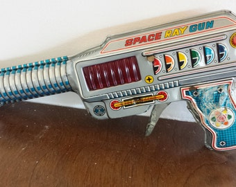 Vintage Toy Space Ray Gun with friction noise Made in Japan