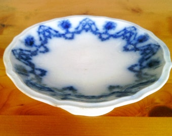 Antique Flow Blue Bon Bon Salver