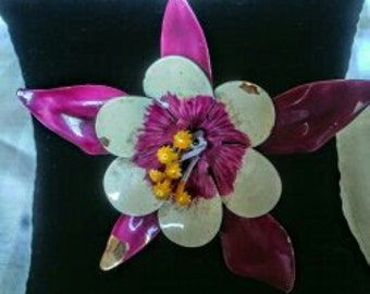 Vintage  Flower Brooch From The 50's