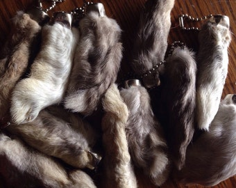 Add a Real Rabbits foot keychain! Free to ship with other purchase!