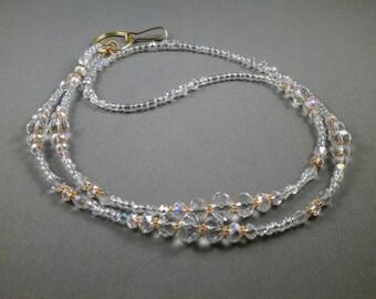 "Beaded lanyard , badge holder , ID lanyard 32"" to 42"" long lanyard ,ID necklace , badge holder chain ,customizable lanyard necklace"