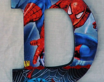 Spiderman Wood Letters