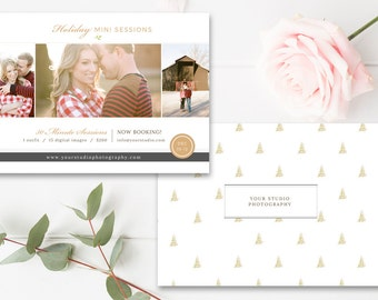 Holiday Mini Session Templates for Photographers, 5x7 Photography Flyer, Professional Templates for Photographers - INSTANT DOWNLOAD!