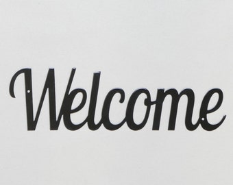"Welcome sign #2 - Metal Wall Sign - 12"" - (GG7---)"